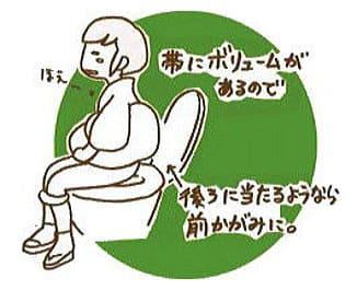 便器に腰掛けます